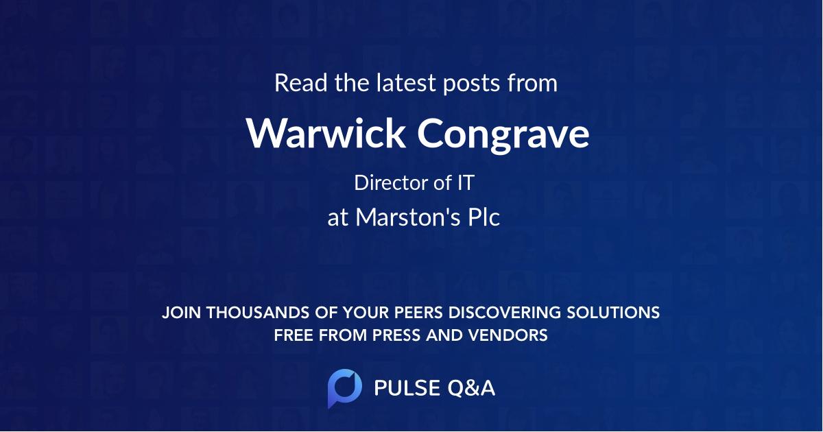 Warwick Congrave
