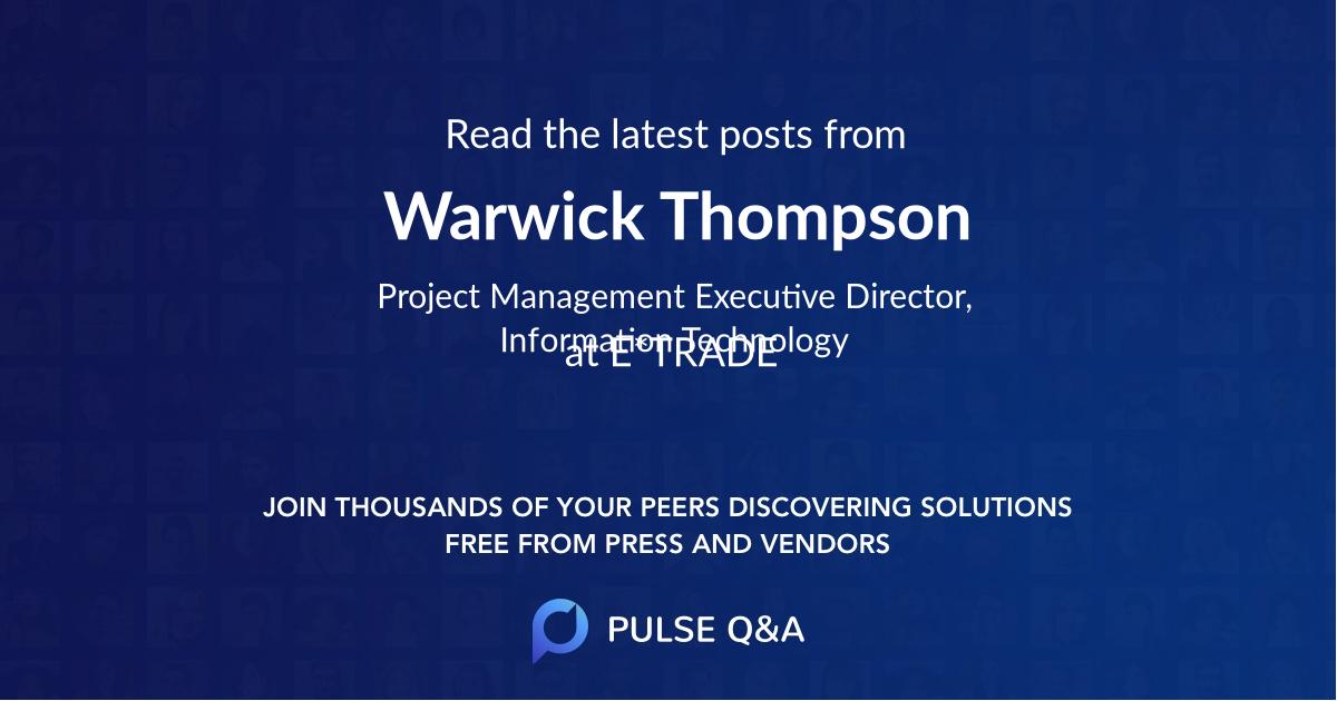 Warwick Thompson