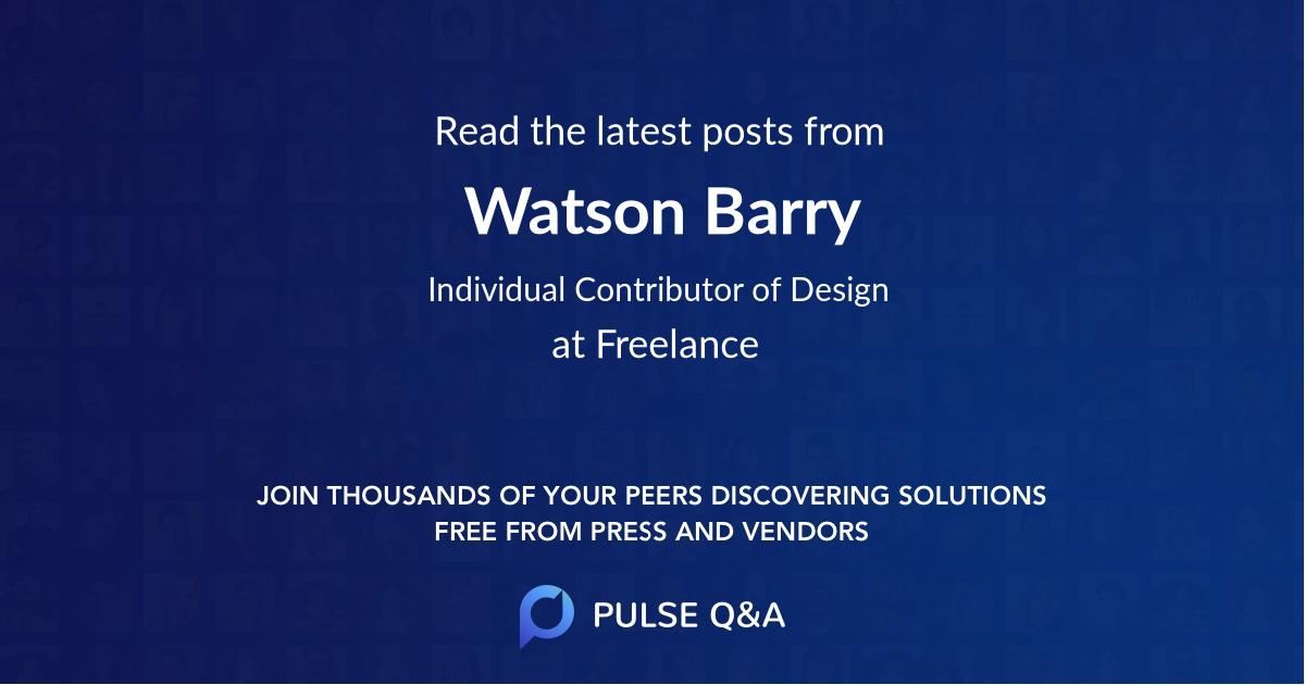 Watson Barry