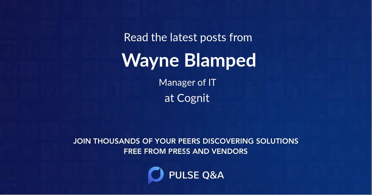 Wayne Blamped