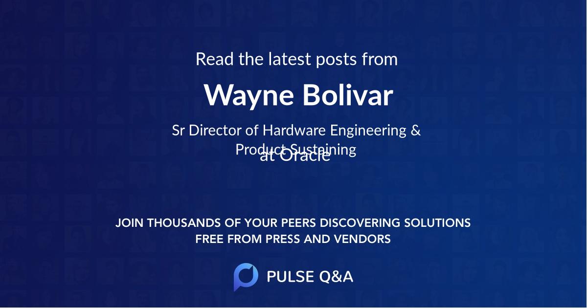 Wayne Bolivar