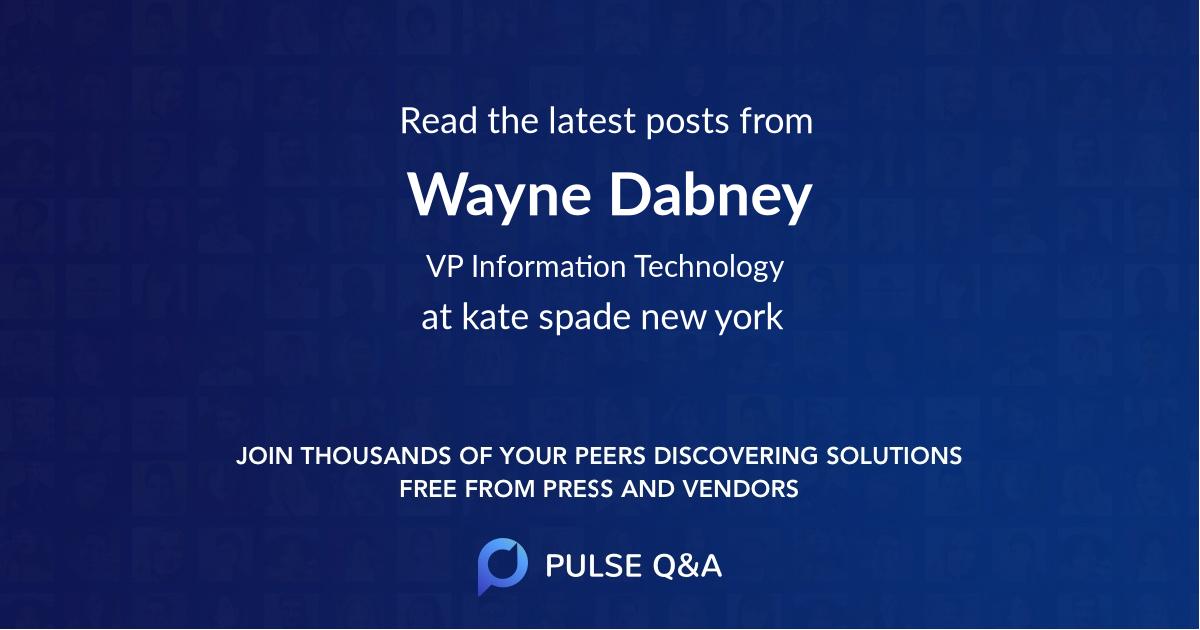 Wayne Dabney