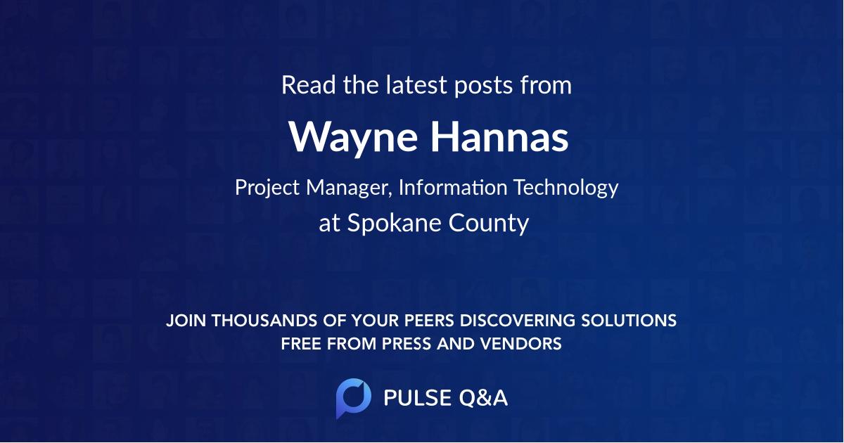 Wayne Hannas