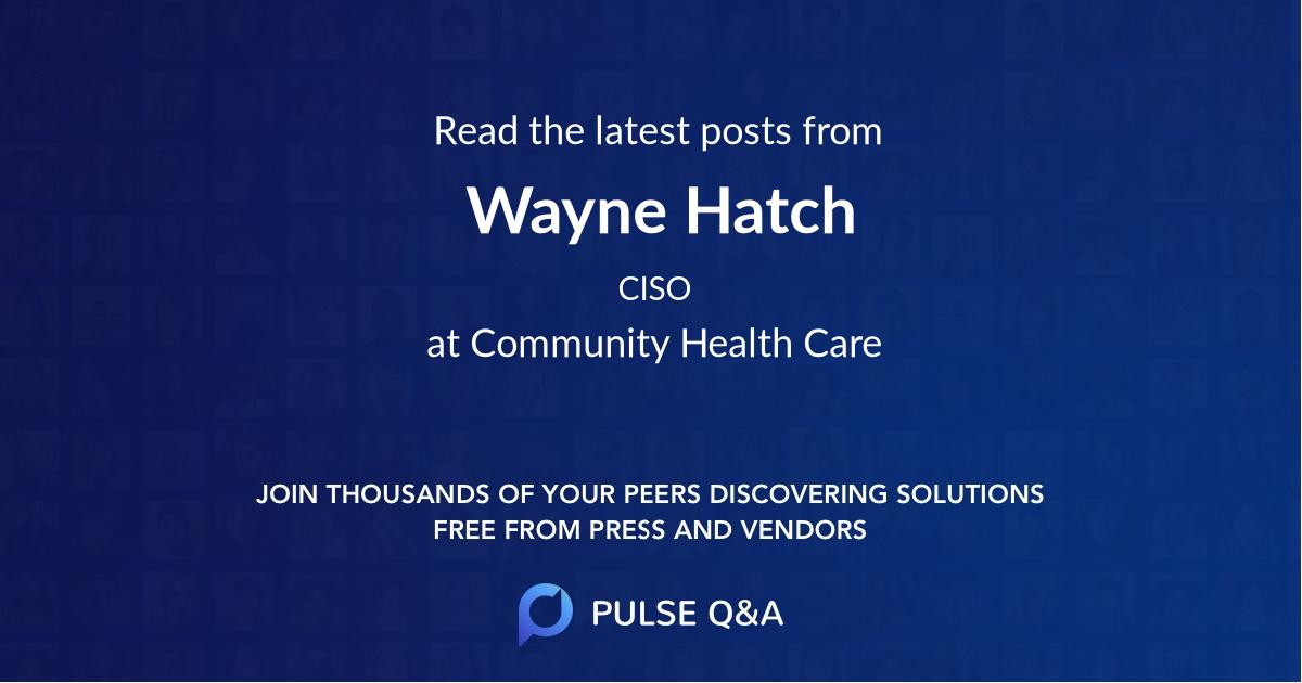 Wayne Hatch