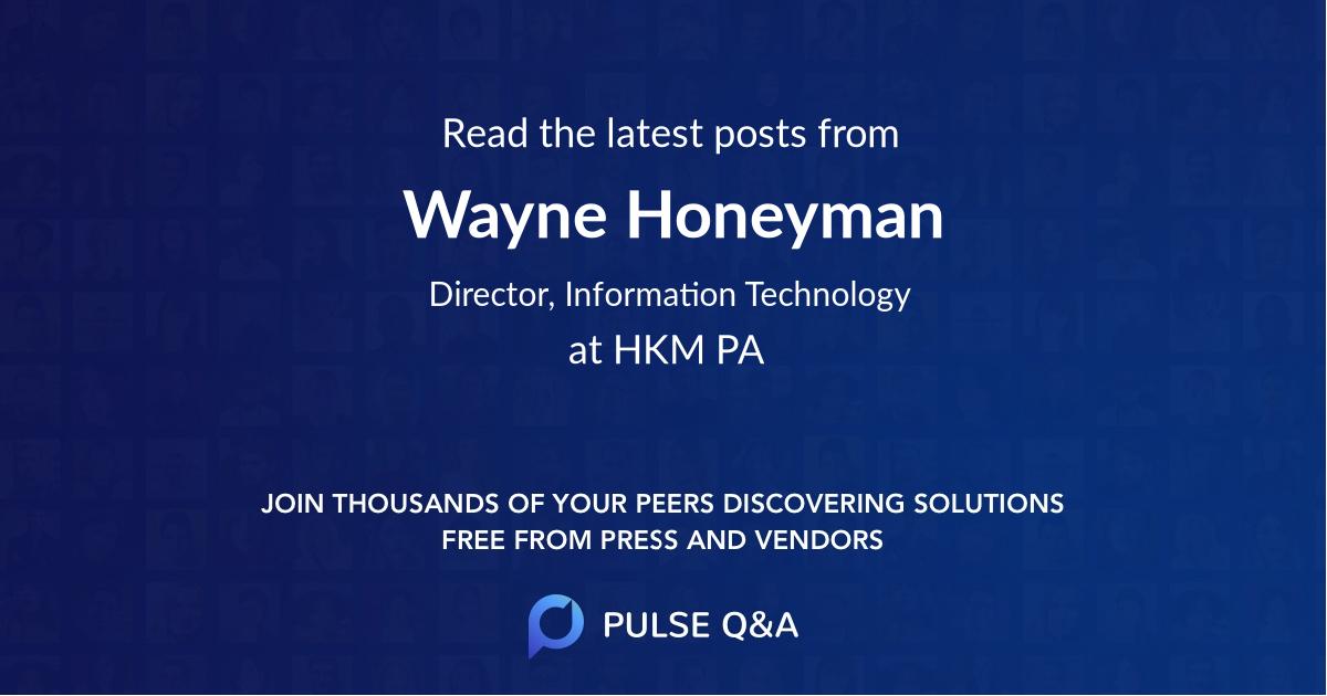 Wayne Honeyman