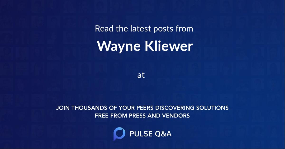 Wayne Kliewer
