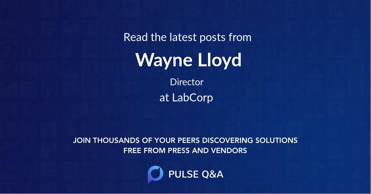 Wayne Lloyd