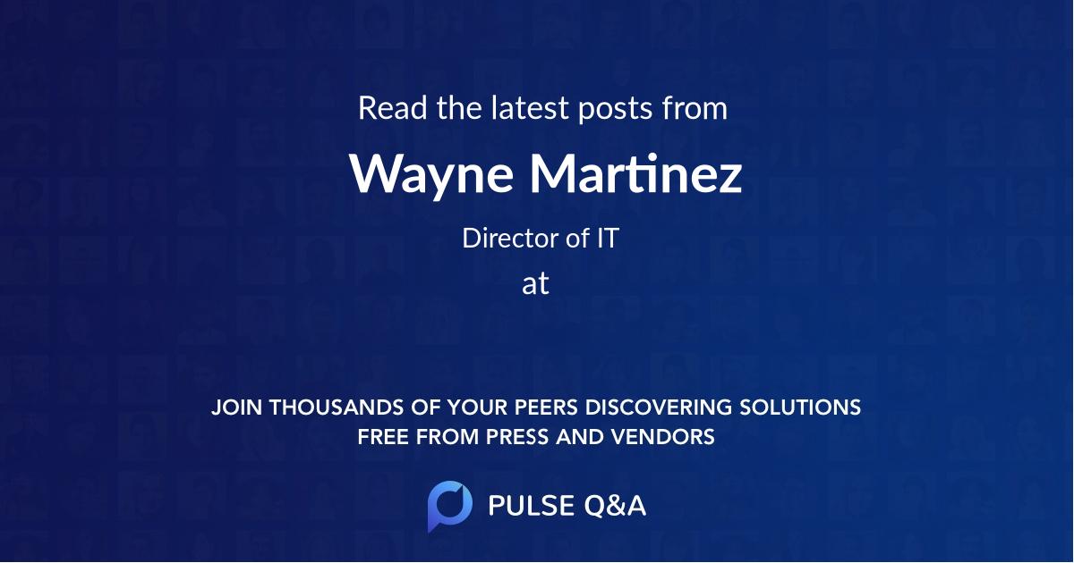 Wayne Martinez
