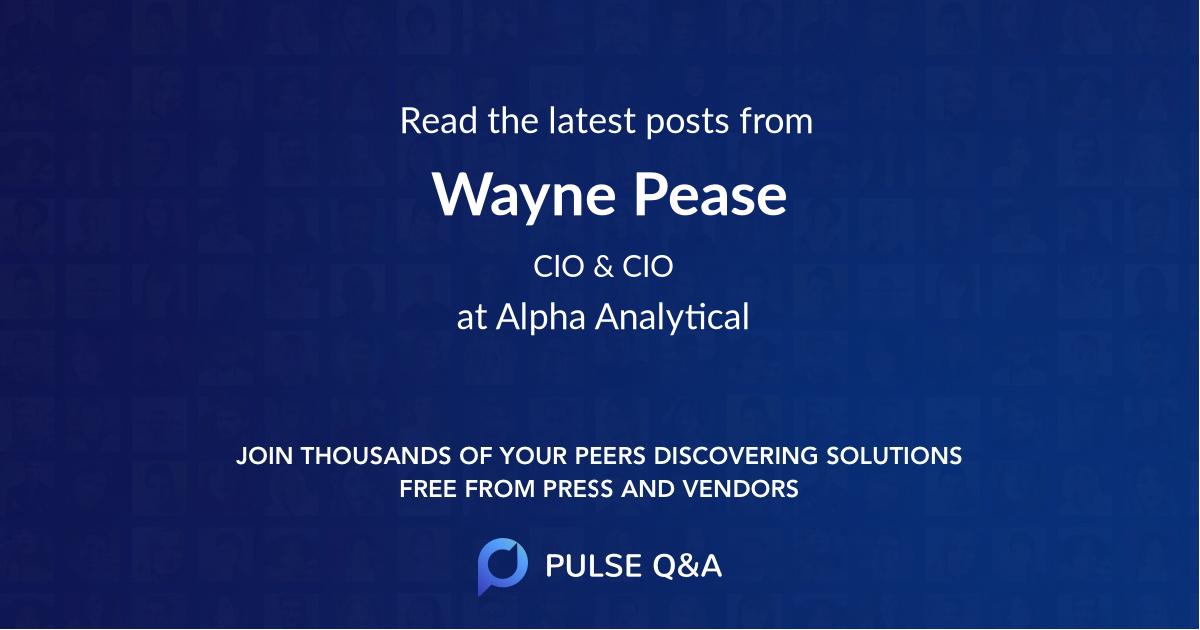 Wayne Pease