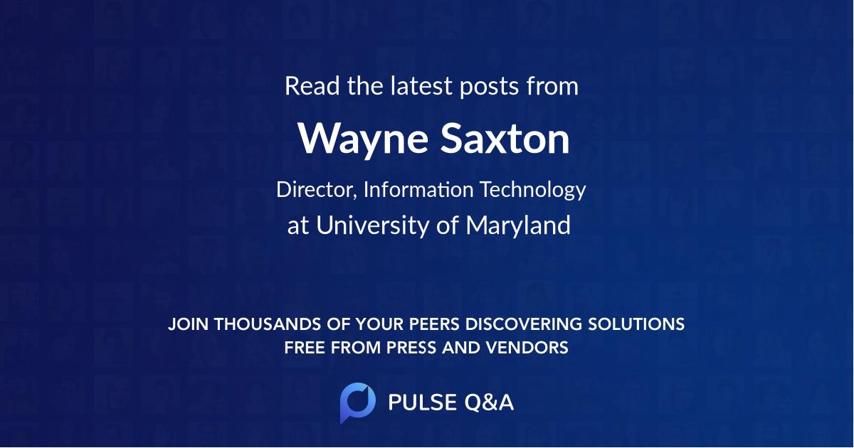 Wayne Saxton