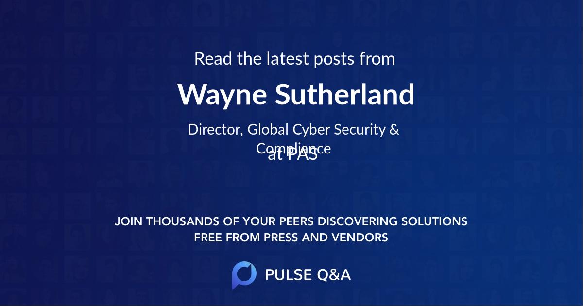 Wayne Sutherland