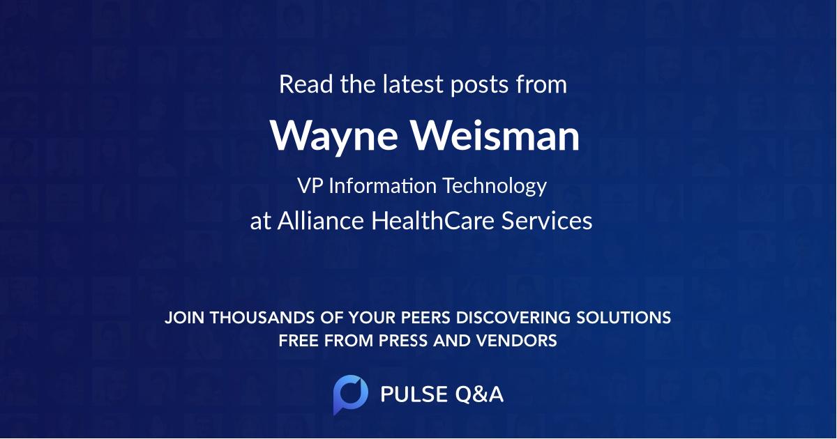 Wayne Weisman
