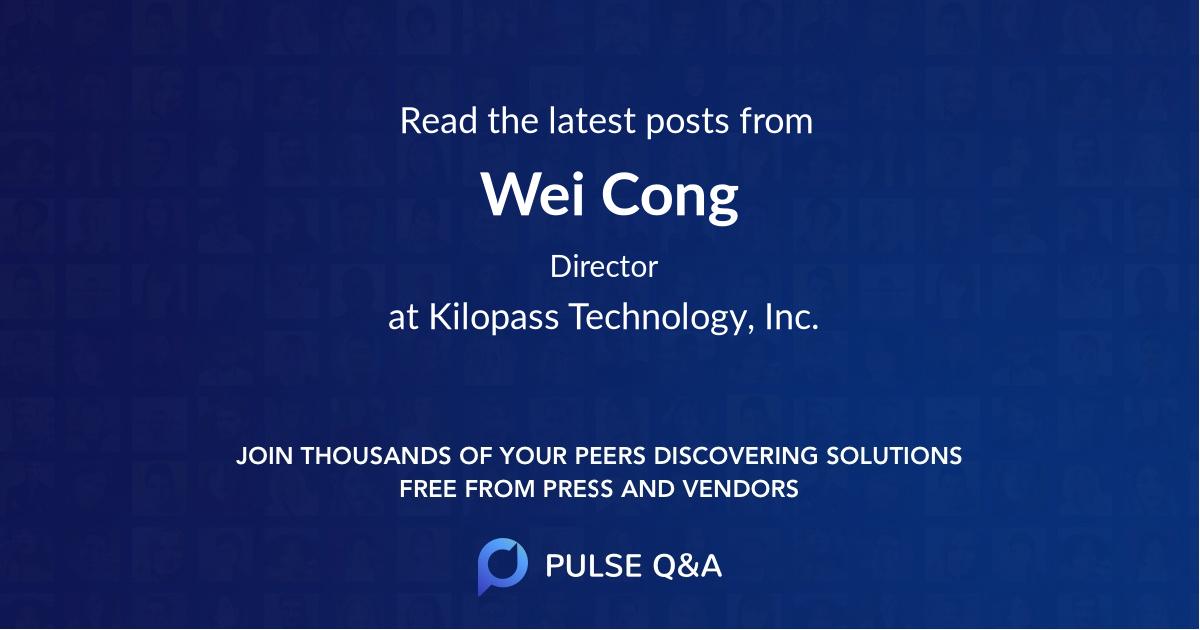 Wei Cong