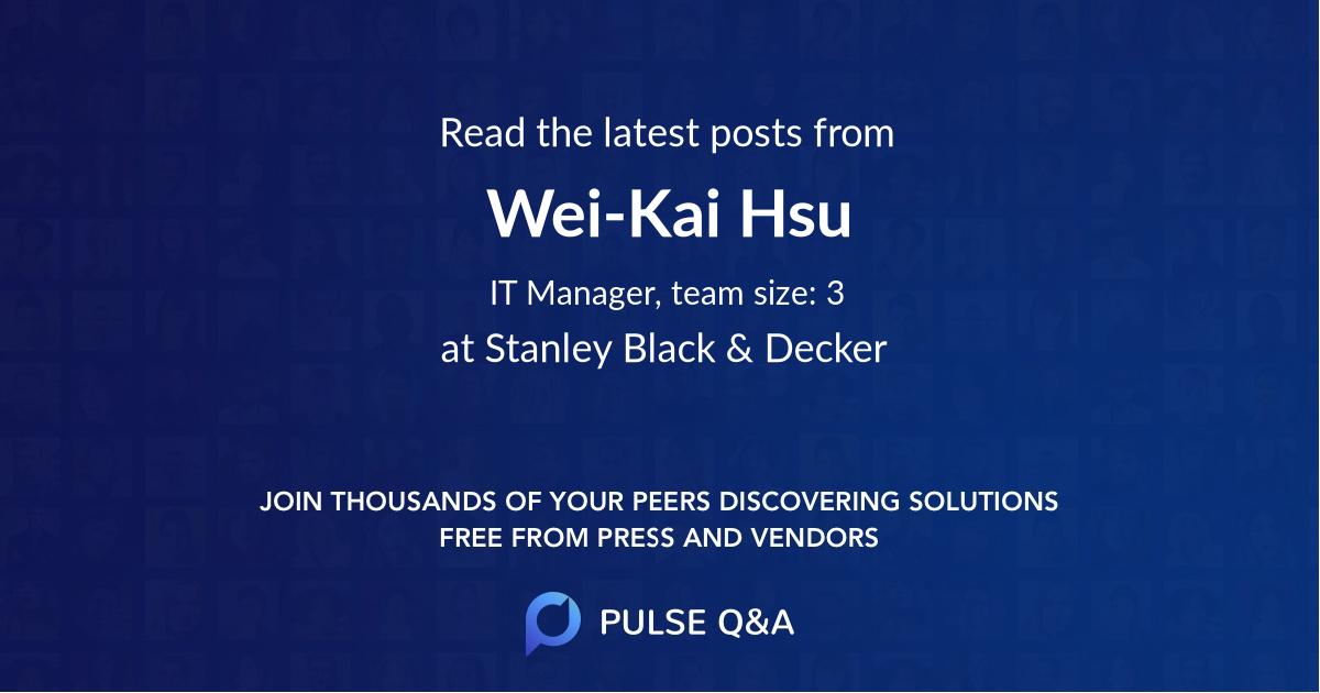 Wei-Kai Hsu