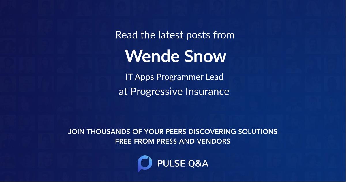 Wende Snow