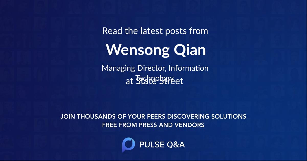 Wensong Qian