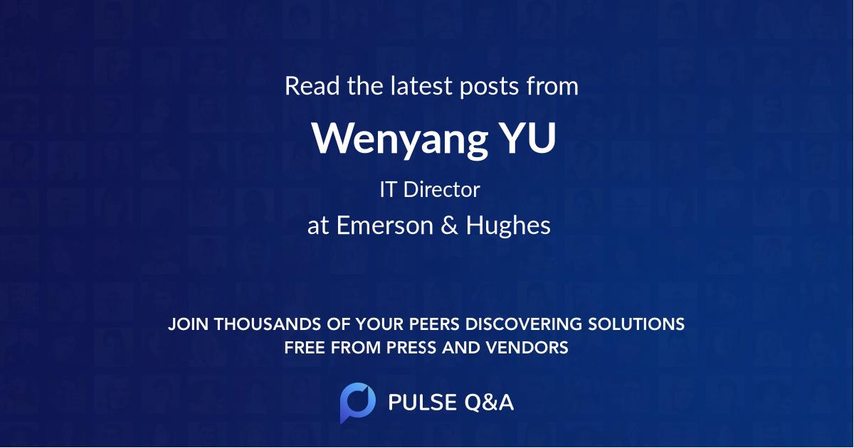 Wenyang YU