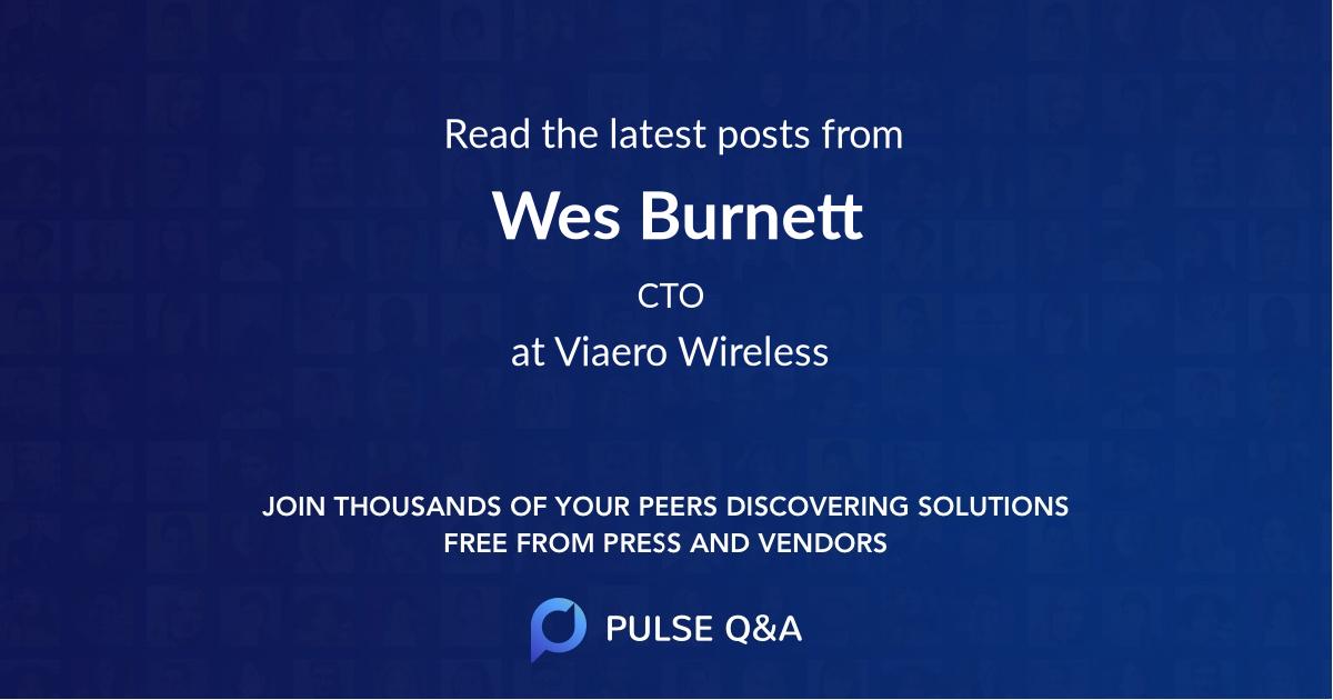 Wes Burnett