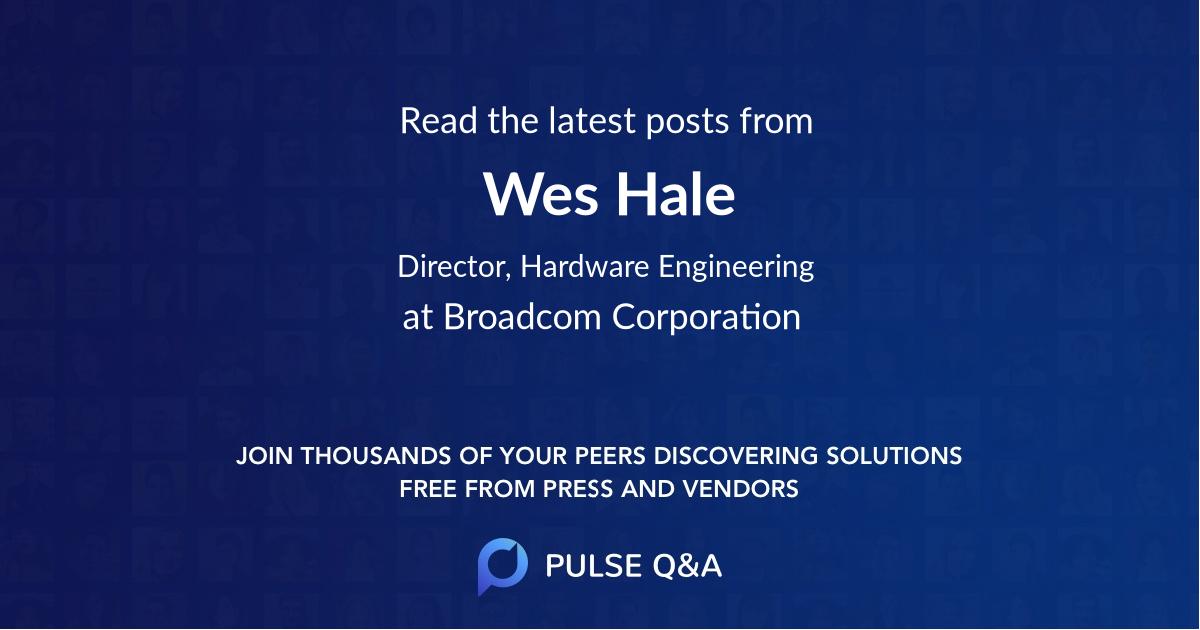 Wes Hale