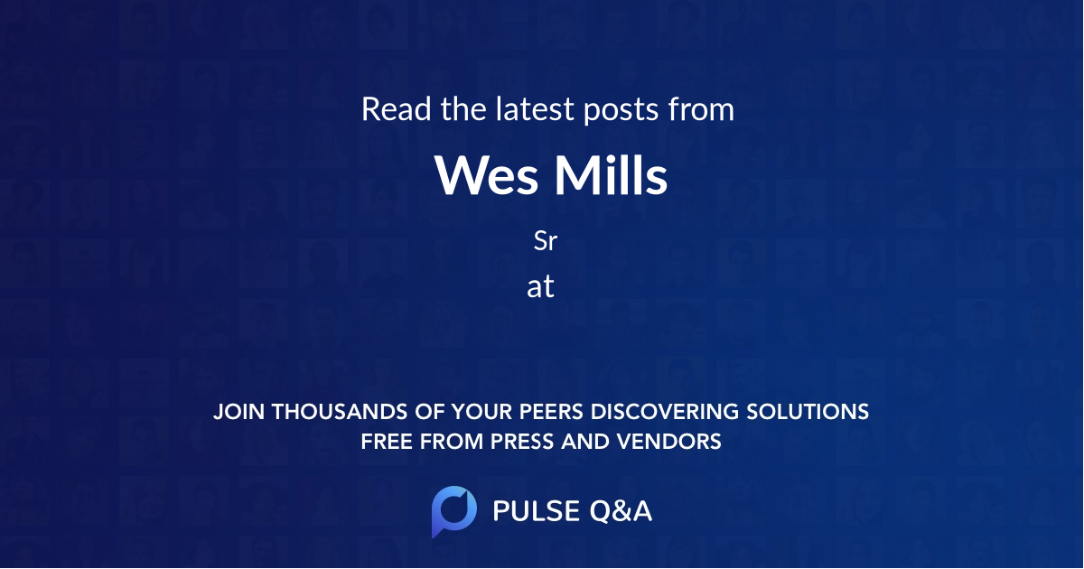 Wes Mills