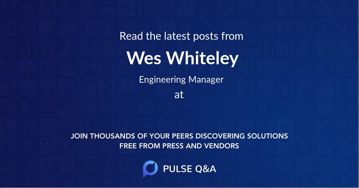 Wes Whiteley
