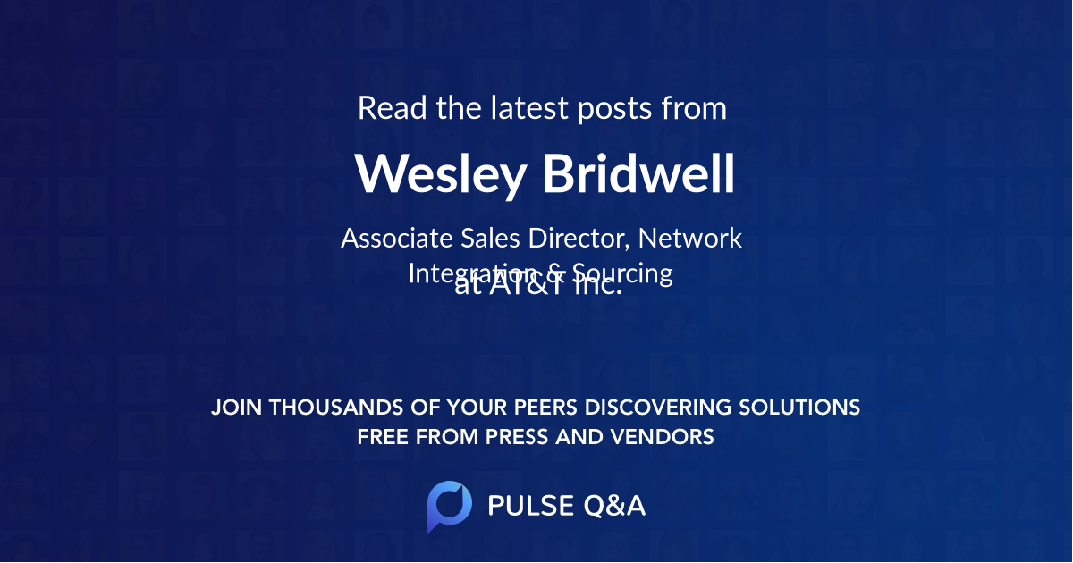 Wesley Bridwell