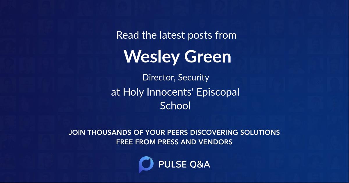 Wesley Green