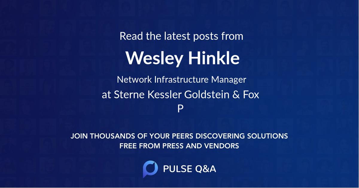 Wesley Hinkle