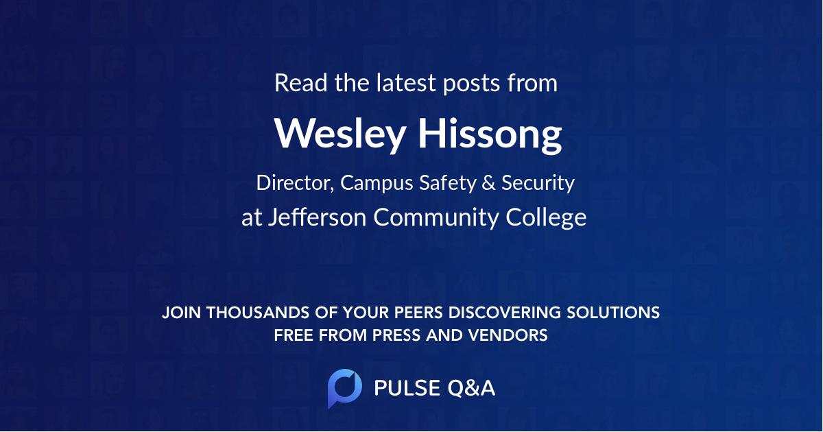 Wesley Hissong