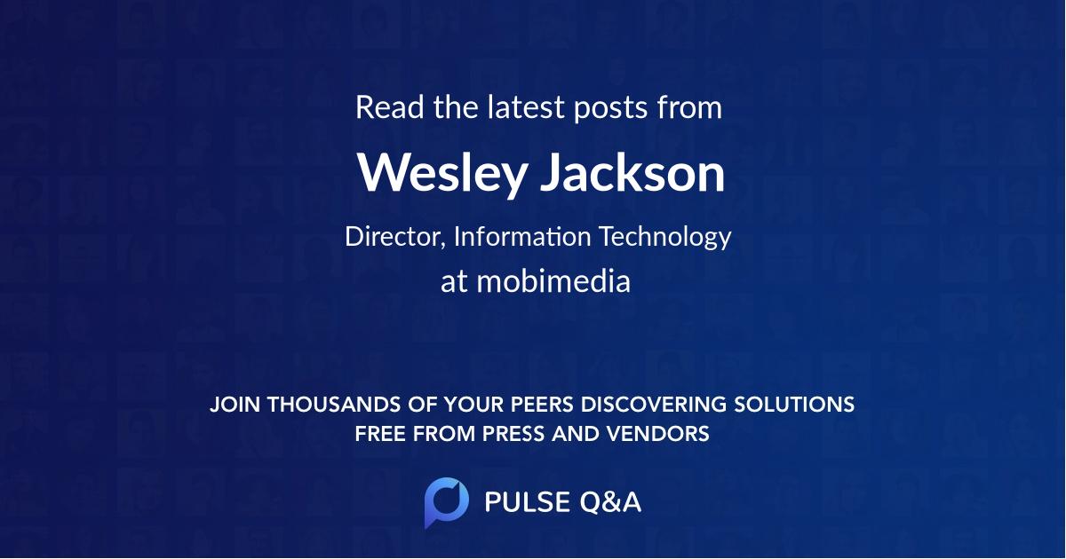Wesley Jackson