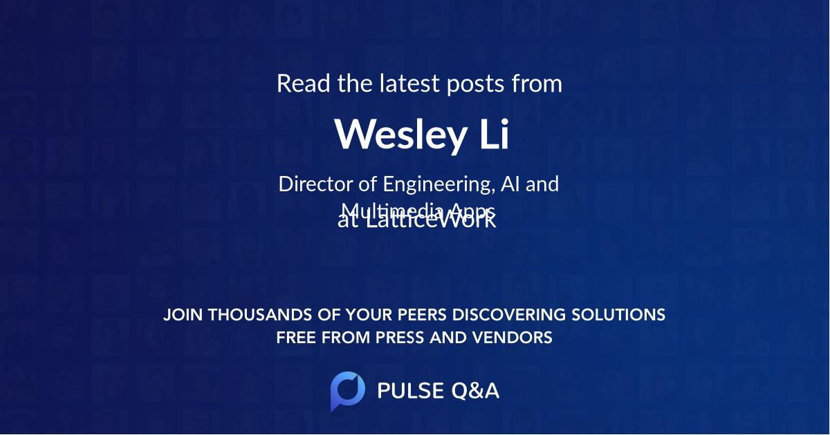 Wesley Li
