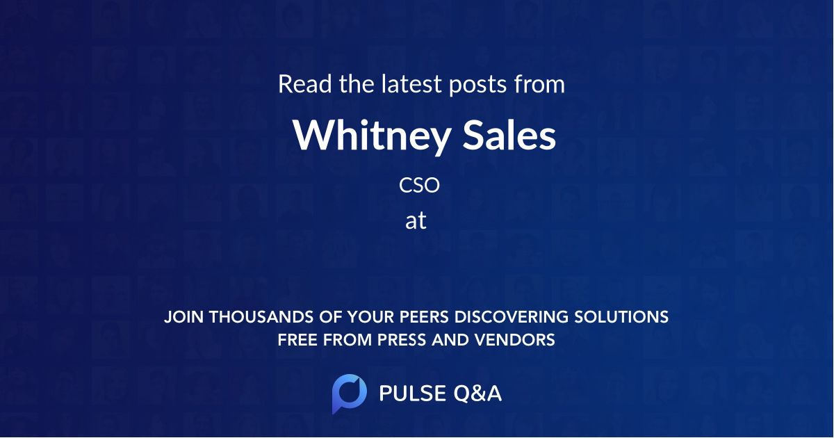 Whitney Sales