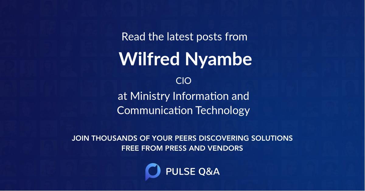 Wilfred Nyambe