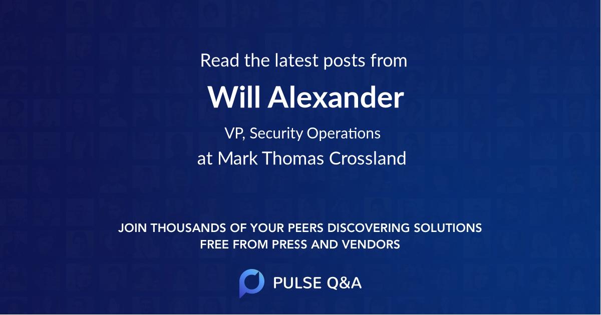 Will Alexander