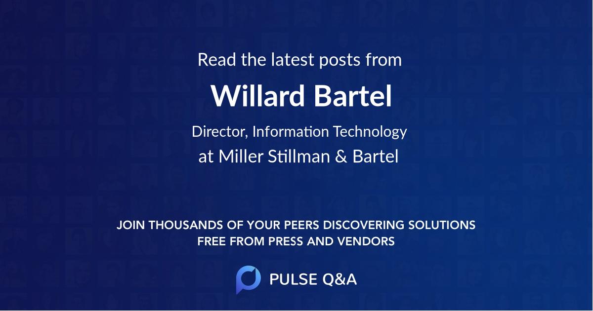 Willard Bartel