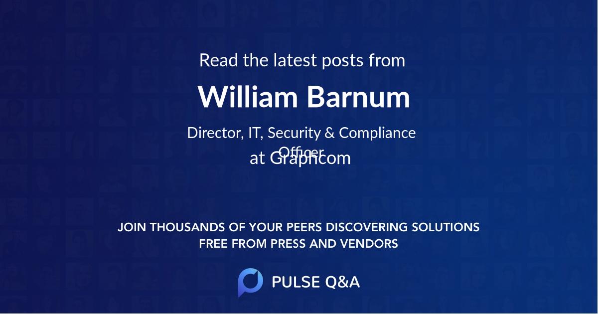 William Barnum