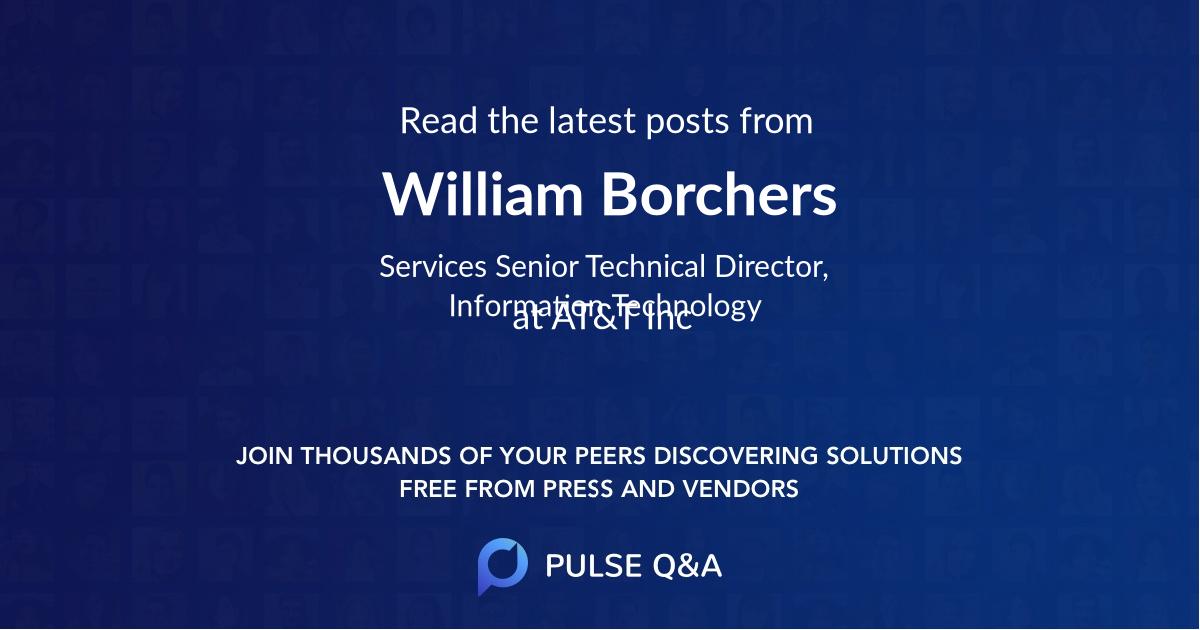 William Borchers