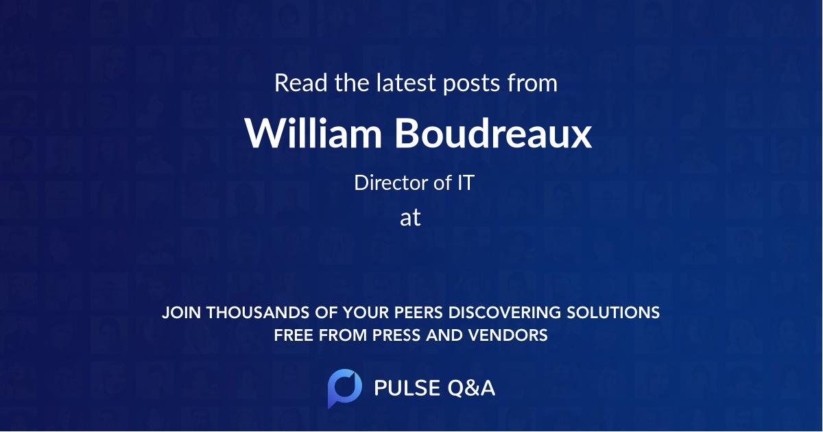 William Boudreaux