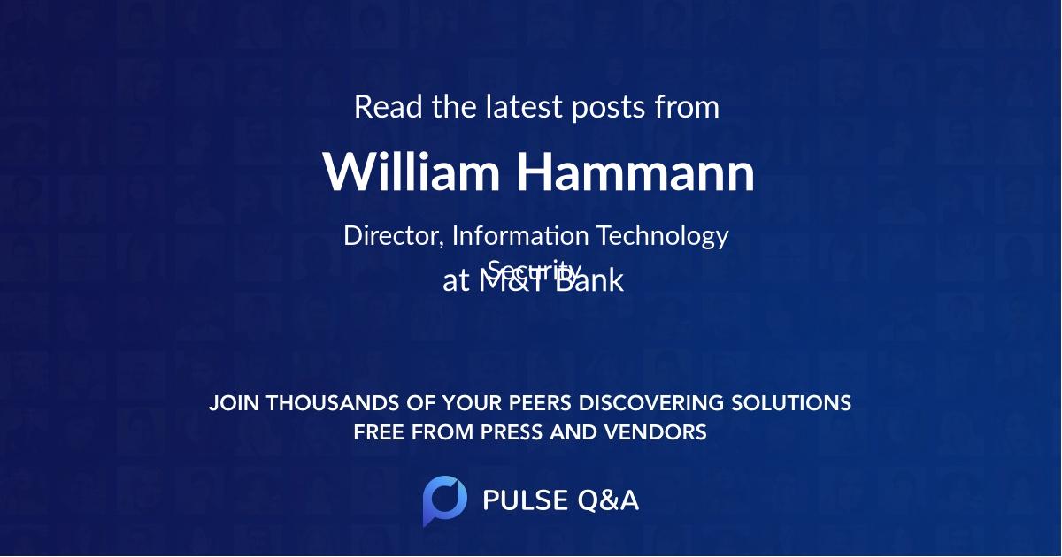 William Hammann