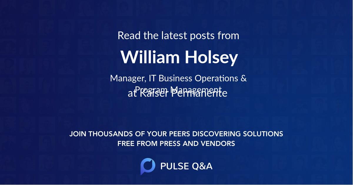 William Holsey