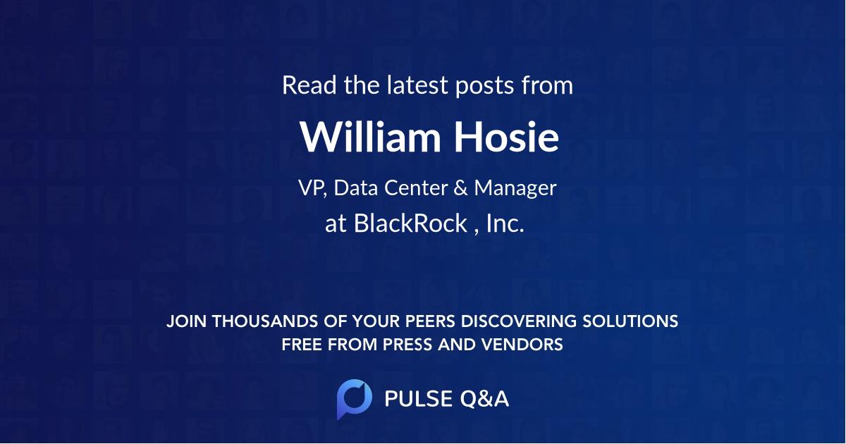 William Hosie