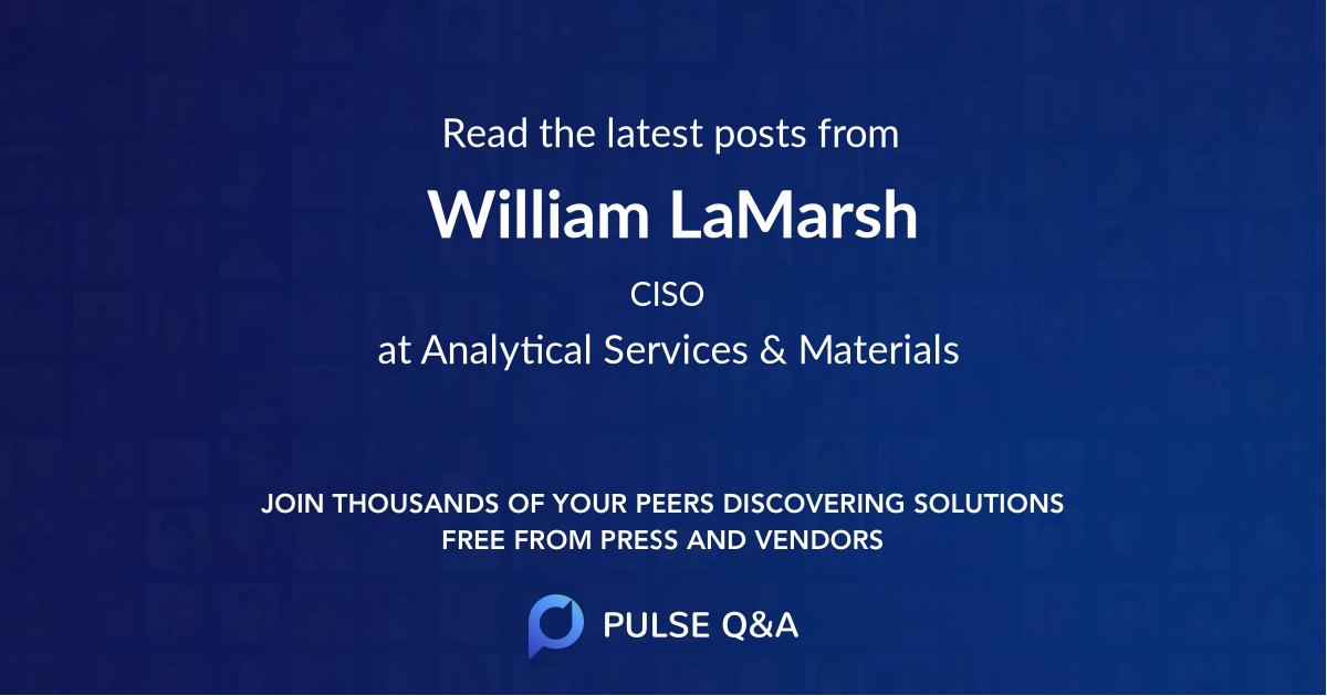 William LaMarsh