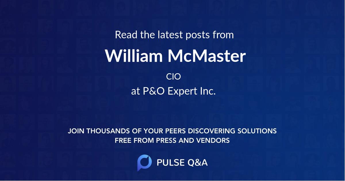 William McMaster