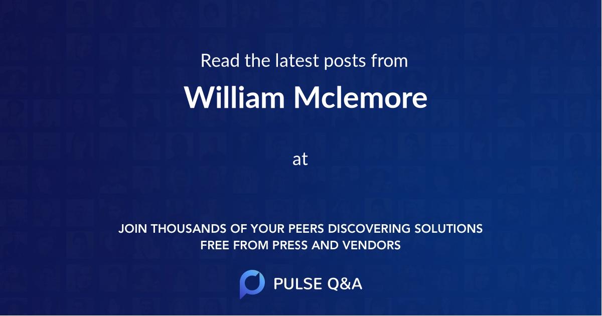 William Mclemore