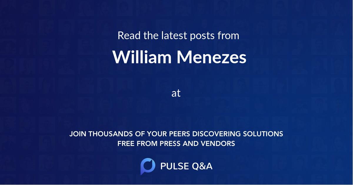 William Menezes