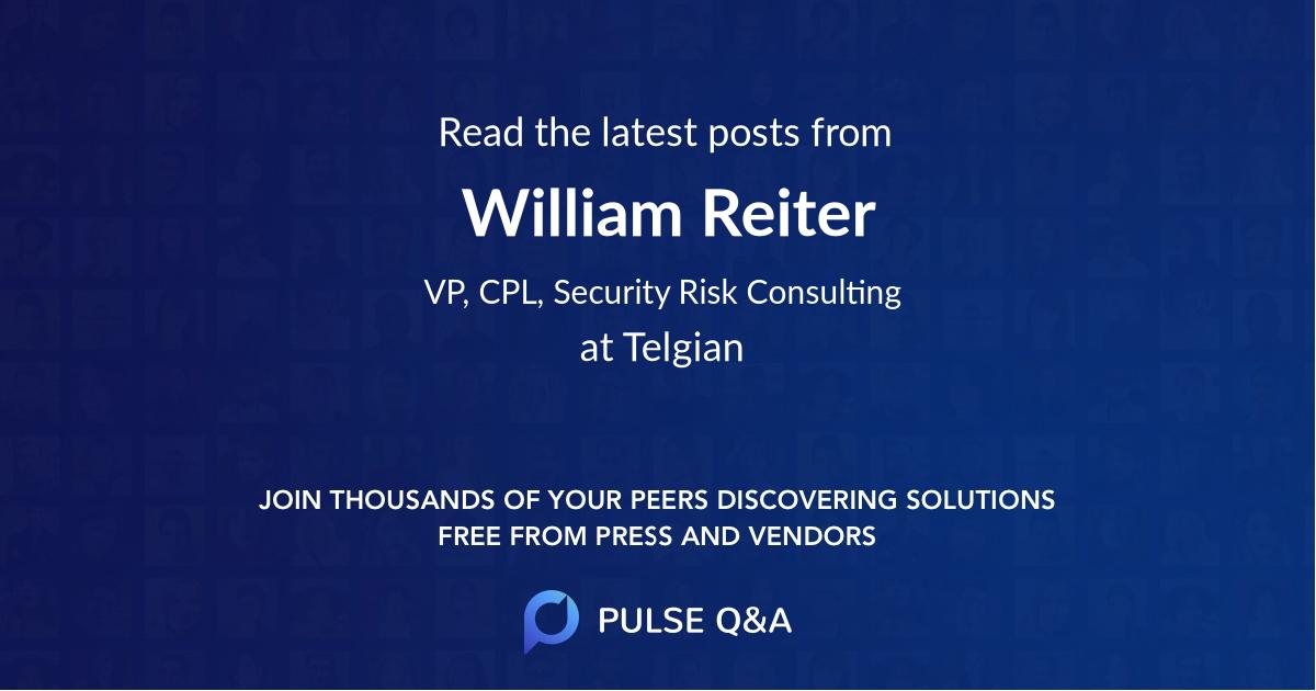 William Reiter