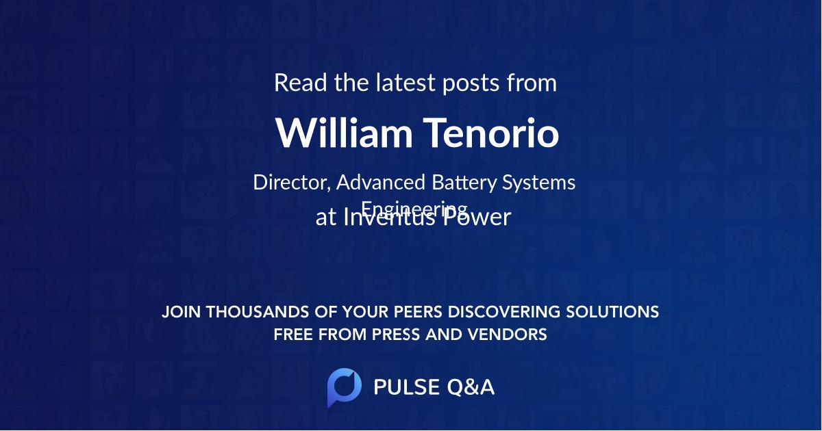 William Tenorio