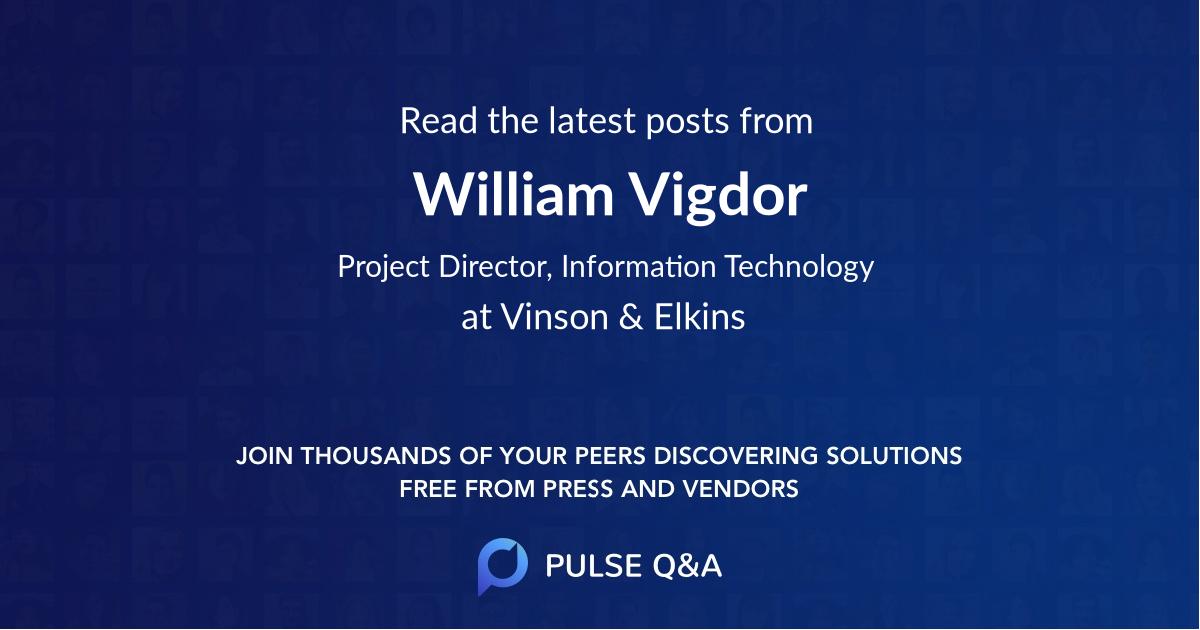 William Vigdor