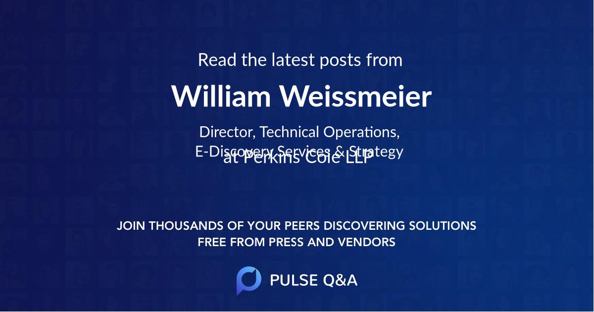 William Weissmeier