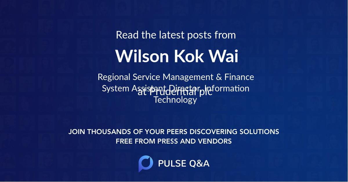 Wilson Kok Wai